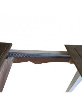 Mesas rusticas modelo buey extensibles de madera maciza extensibles
