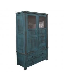 vitrina vintage azul