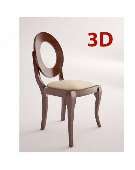 silla isabelina de madera modelo sfera asiento tapizado