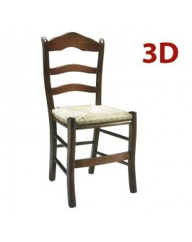 Silla rustica de madera asiento de enea modelo Ubeda.