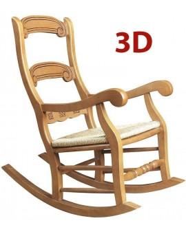Mecedora de madera modelo caraqcola