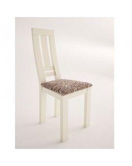 silla de madera moderna modelo lucia laca