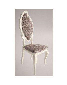 Silla isabelina moderna respaldo tapizado modelo Venecia.