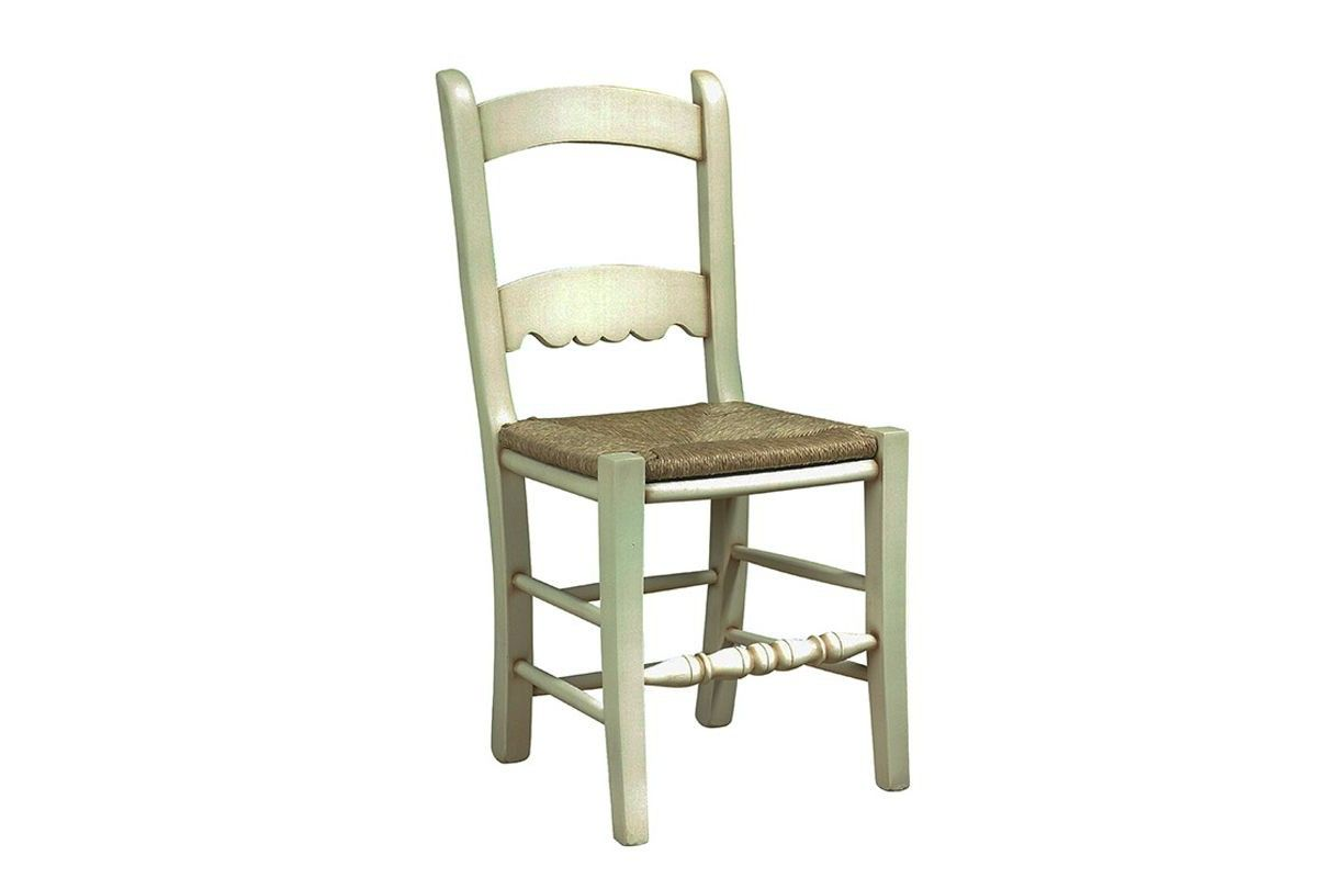 Silla rustica de madera asiento de enea modelo Baeza.