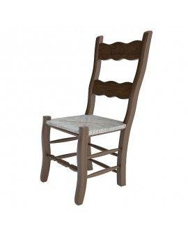 silla de madera rustica terra color nogal