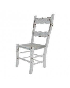 silla de madera rustica terra color vintage asiento enea