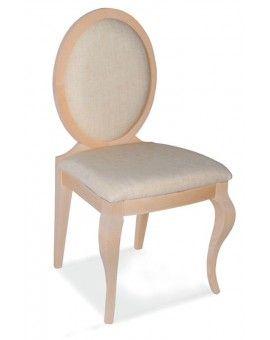 silla isabelina tapizada de madera modelo Sevilla 1