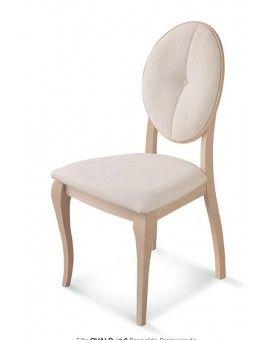 Silla isabelina de madera tapizada ovalo 9