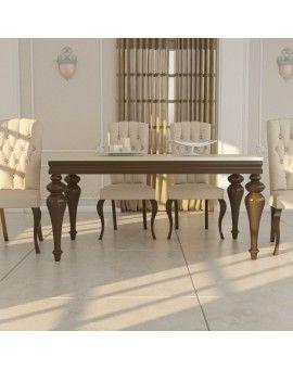 Mesas clasicas de madera para comedor. Madmu.es