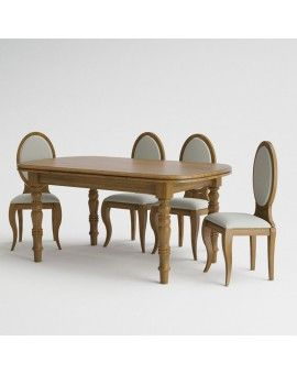 Mesa de comedor de madera pata torneada modelo petaca extensible.