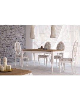 Mesas de comedor isabelinas modernas modelo Versalles fijas y extensibles.