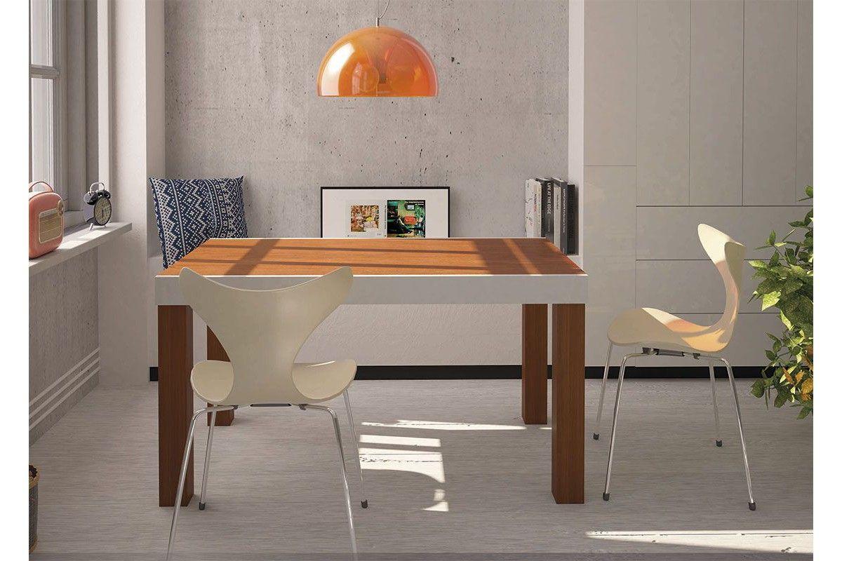 Mesa de madera moderna extensible modelo Praga.