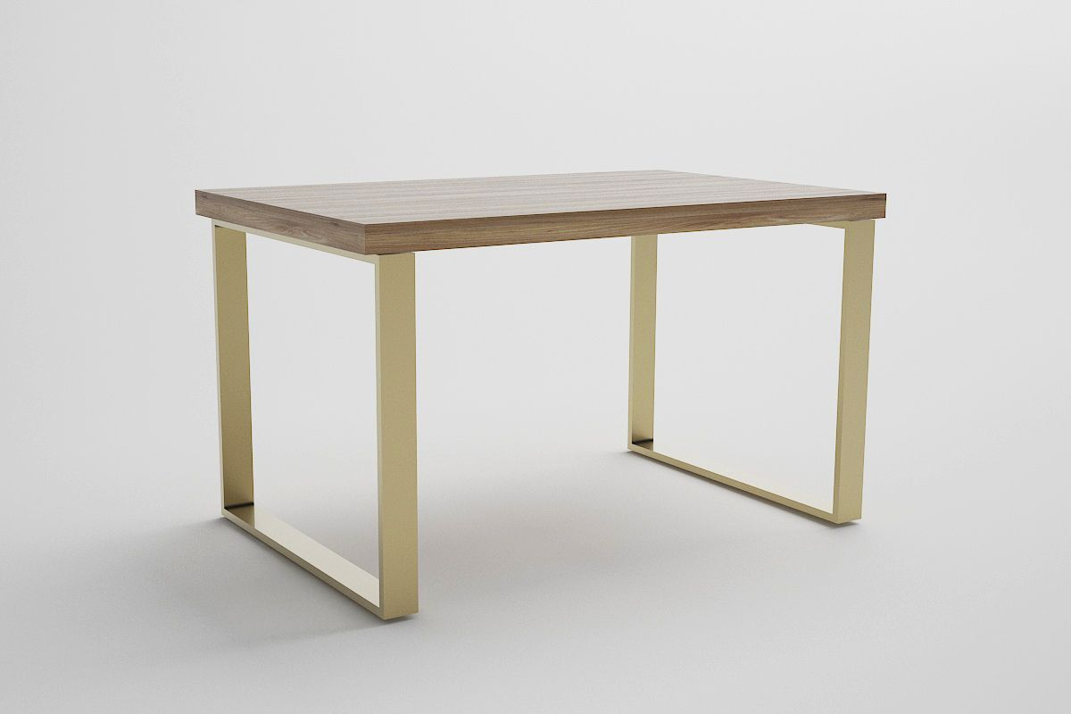 Mesa de comedor tpa de roble patas de hierro modelo Orleans.