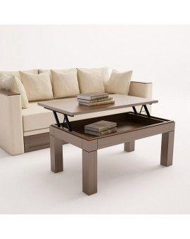Mesa de centro elevable moderna de madera modelo Ara.