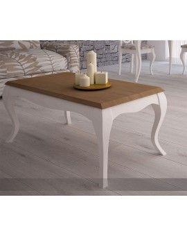Mesa de centro isabelina de madera elevable modelo Versalles.