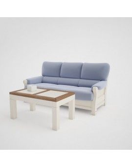 Mesa rustica de madera elevable modelo Zambra.