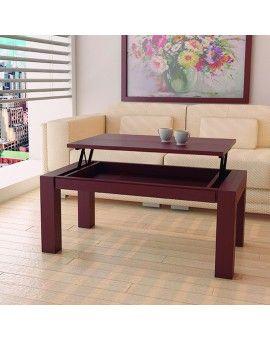 Mesa de centro moderna de madera elevable modelo Maria Elena.