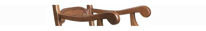 Sillones de madera tapizados, isabelinos, rusticos y modernos.